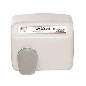Steel, Fixed Nozzle Automatic Hand Dryer, Surface Mount Voltage