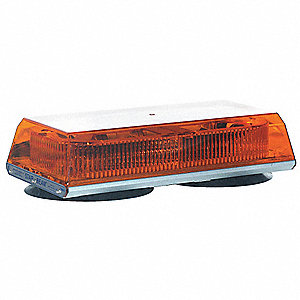 Amber Mini Lightbar, Suction Mounting, Number of Heads: 4