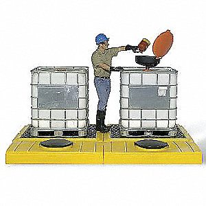 Tank Containment Unit,12-1/2 In. H