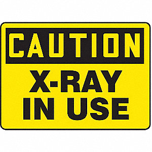 Caution Radiation Sign,7 x 10In,BK/YEL