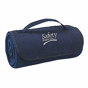Blanket,Safety Begins Here,Navy Blue
