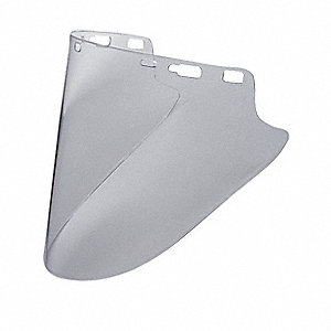Faceshield Visor,Lexan,Clear,10x18-1/2in