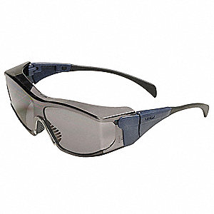 Ambient  OTG Scratch-Resistant Safety Glasses, Gray Lens Color