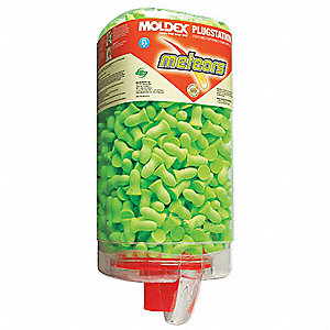 Ear Plugs w/ Dispenser,33dB,Green,PK500