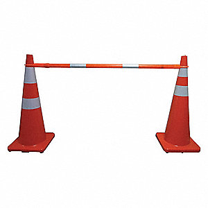 Telescoping Cone Bar,Orange,60-108 In L