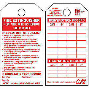 Zing 5 34 x 3 inrwhtrecycled plstcpk10 9xrx97016 grainger plastic fire extinguisher tag 5 34 height 3 width 10 pk altavistaventures Image collections