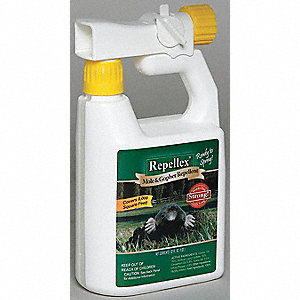 Mole/Gopher Repellent,32 oz. Weight