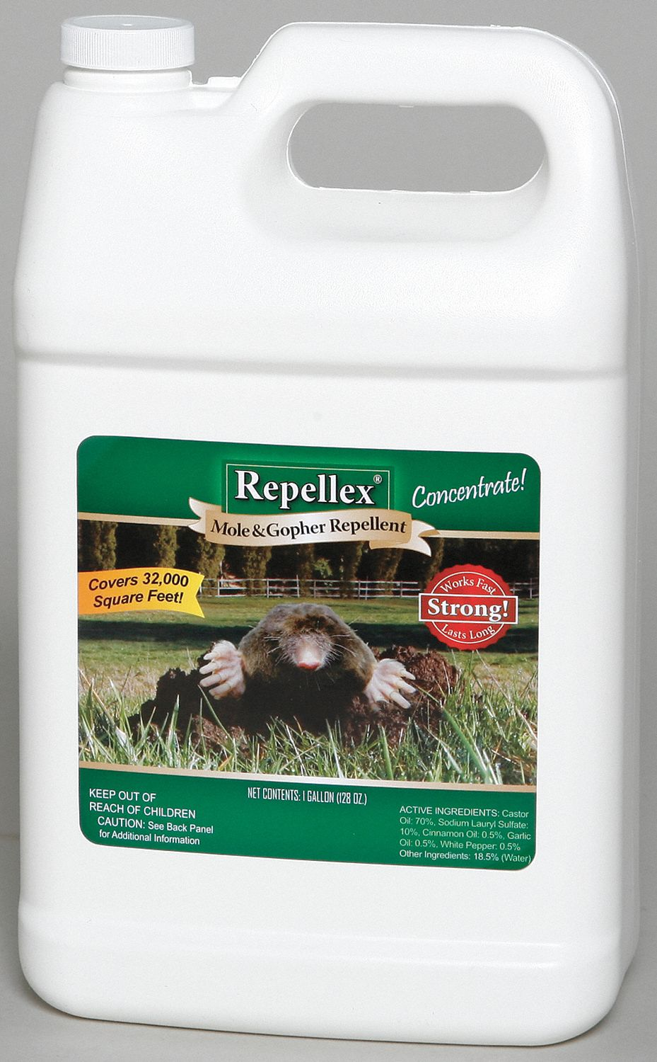 Mole/Gopher Repellent,  Liquid,  1 gal