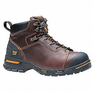 6 in Work Boot,  9,  M,  Men's,  Brown,  Steel Toe Type,  1 PR