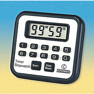 Timer/Stopwatch,Digital,3/8 In. LCD