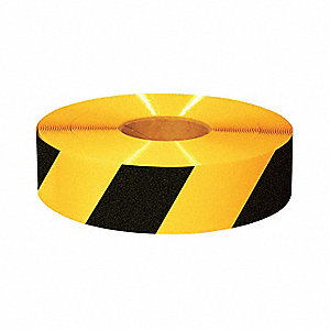 "Floor Marking Tape, Striped, Roll, 3"" x 100 ft., 1 EA"