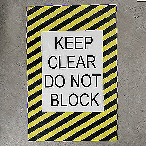 Floor Electrical Panel Sign,24 x 36 In.