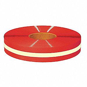 TAPE FLOOR RED W GLOW CTR 2INX100FT