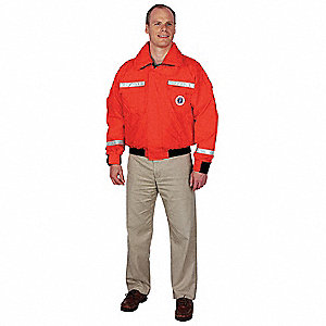 Flotation Jacket / Coat, USCG Type III, Foam Flotation Material, Size: 2XL