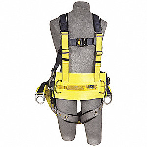 ExoFit™ Full Body Harness with 330 lb. Weight Capacity, Yellow, S