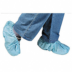 "XL Shoe Covers, Slip Resistant Sole: Yes, Waterproof: No, 6-3/4"" Height"