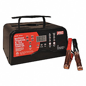 BATTERY CHARGER,75 A,AUTOMATIC,6/12 V