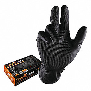 GLOVES 246 NITRILE 6MIL, BLACK 50PCE