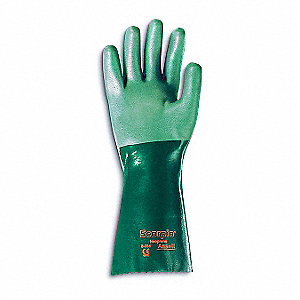 CHEMICAL PROTECTION GLOVE,STRAIGHT,SIZE9