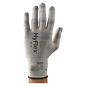 CUT RESISTANCE GLOVE,COOL GREY,SIZE 11