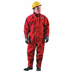 TURNOUT COVERALL,POLYESTER,2XL,ZIPPER