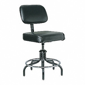 TASK CHAIR BLK FABRIC/VINYL 19-24IN