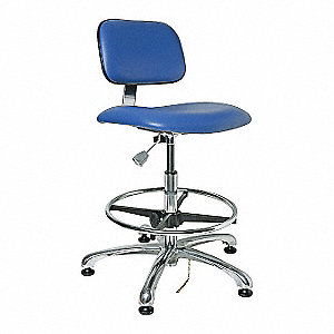 ESD CLEANROOM CHAIR, BLUE,23-33IN