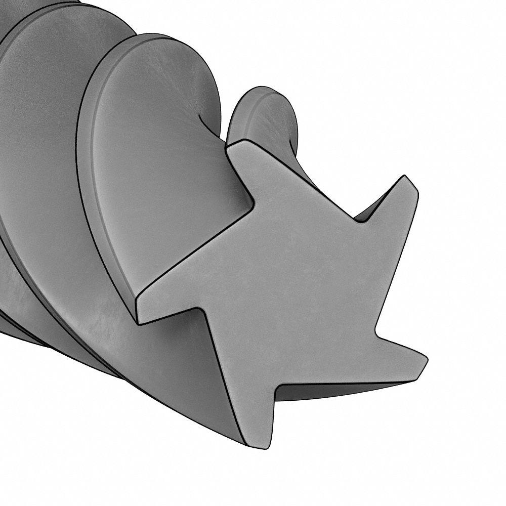 "0.0995/"" #39 Diameter Straight Flute RH Solid Carbide Chucking Reamer"