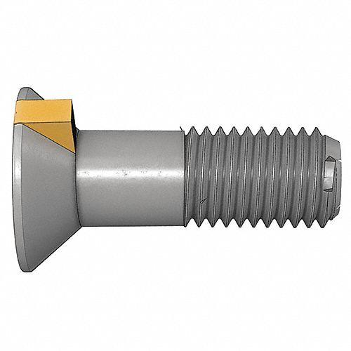 7 Head 15 pcs Plow Bolts Flat Head 1-8 X 3-3//4 Grade 8 Steel Plain