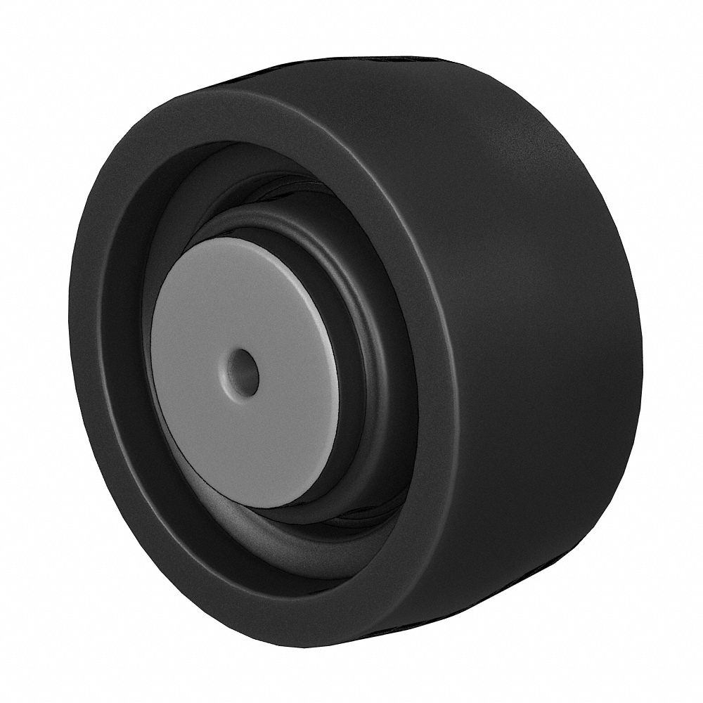 650 lbs 5 Inch Swivel Thermoplastic Rubber Casters and 3//8-16 TPI x 1.5 Threaded Stem Total Capacity Service Caster Set of 5