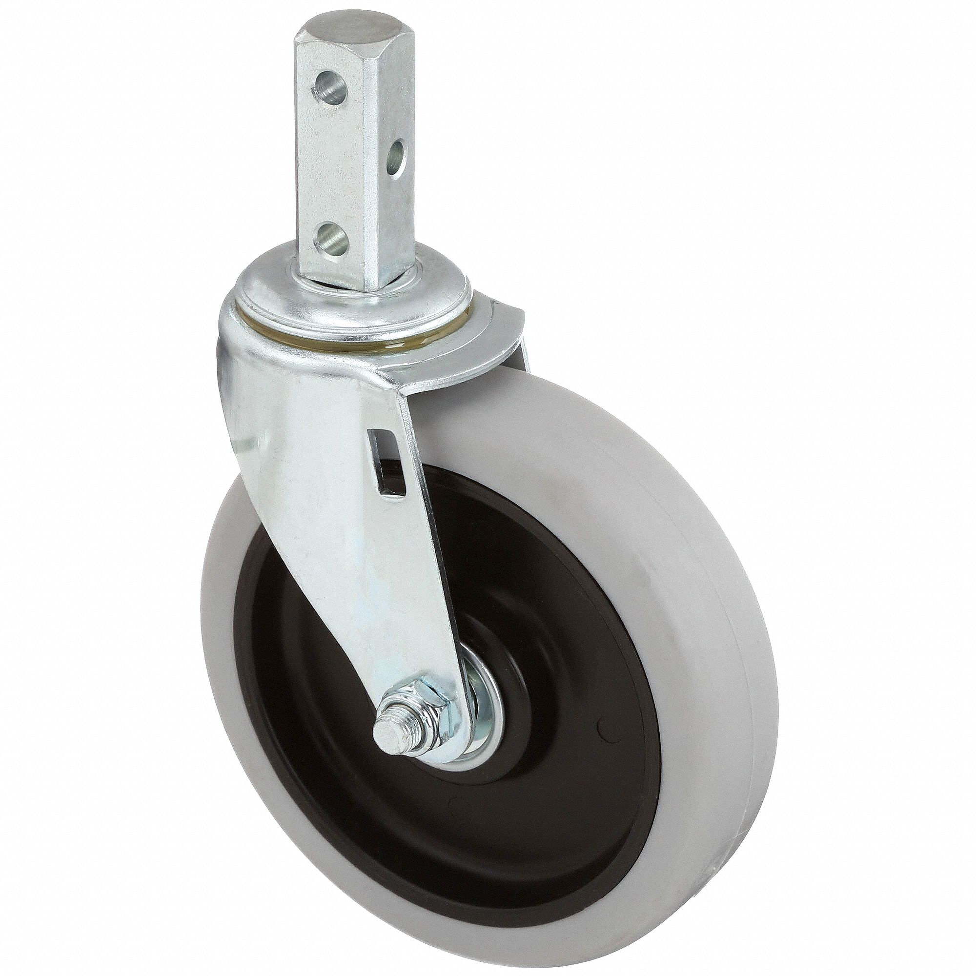 2-15//16 Mount Height 90 lbs Capacity 2-1//2 Wheel Dia Hooded Twin Swivel 1-1//2 Plate Width Wagner Plate Caster E.R 2 Wheel Width 1-1//2 Plate Length Plain Bearing Nylon Wheel