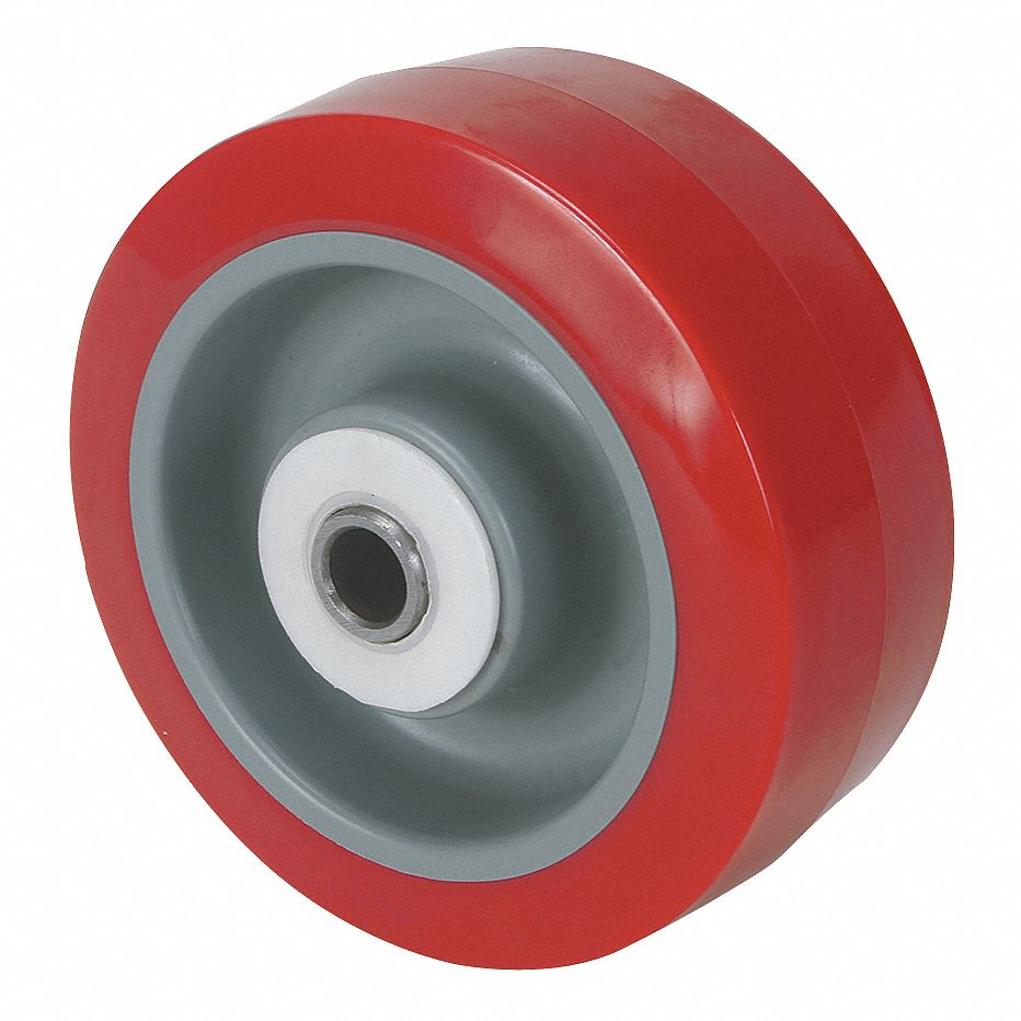 """6x2 WITH BEARING SIZE 1//2/"""" TWO NON MARKING WHEELS MAROONE COLOR BRAND NEW!!!!"""