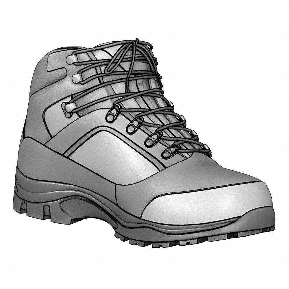 Pln Work Shoes Black Womens 7 PR GRABBERS