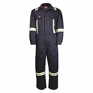 FR LONG SLEEVE COVERALL,SIZE 48