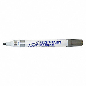Permanent Paint Marker, Paint-Based, Yellows Color Family, Medium Tip, 1 EA