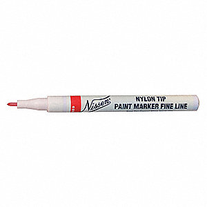 Permanent Paint Marker, Paint-Based, Blues Color Family, Micro Tip, 1 EA