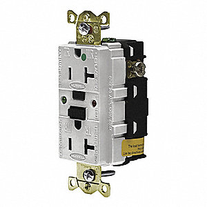 GFCI RECEPTACLE,20A,WHITE,5-20R,HOSPITAL