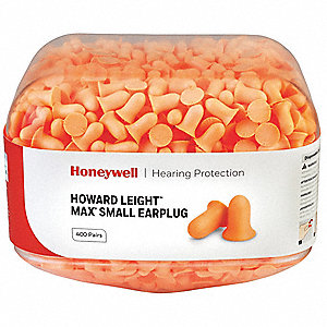 30dB Disposable Bell-Shape Ear Plugs; Uncorded, Orange, S