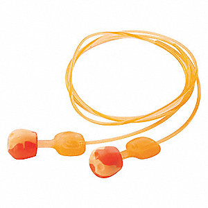 Ear Plugs,Reusable,28dB,Orange,PK100