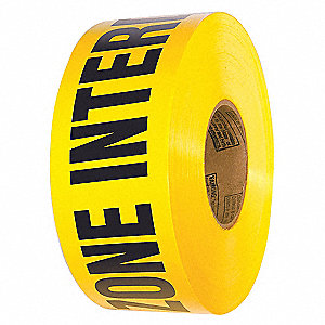 BARRICADE TAPE,ZONE INTERDITE,YELLOW