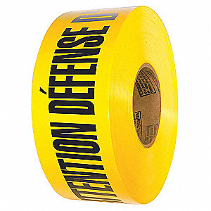 BARRICADE TAPE,ATTENTION DEFENSE,YELLOW