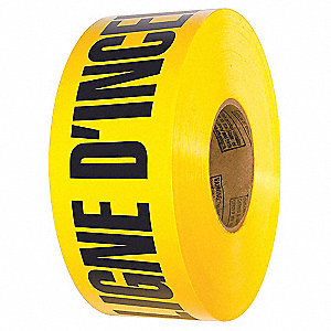 BARRICADE TAPE,DANGER ARRET,YELLOW