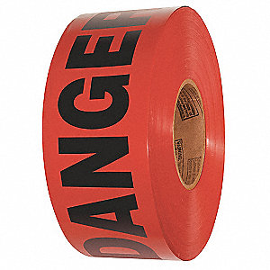 BARRICADE TAPE,DANGER,RED