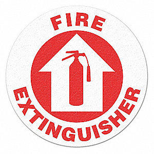 FLOOR SIGN,RED/WHITE,FIRE EXTINGUISHER