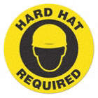 SIGN,YLLW/BLK,17IN DIA,HARD HAT REQUIRED
