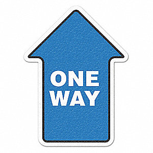 TRAFFIC SIGN,ONE WAY,WHITE/BLUE,VINYL