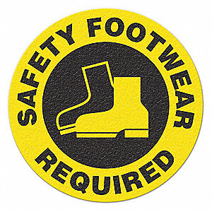 SAFETY SIGN,SAFETY FOOTWEAR REQUIRED