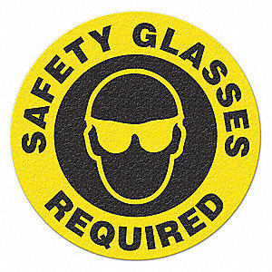 SAFETY SIGN,SAFETY GLASSES REQUIRED