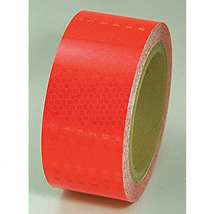 REFLECTIVE TAPE,RED,30FT L X 2IN W,SOLID