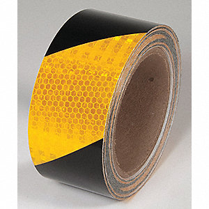 TAPE,YELLOW/BLACK,30 FT. L X 2 IN. W